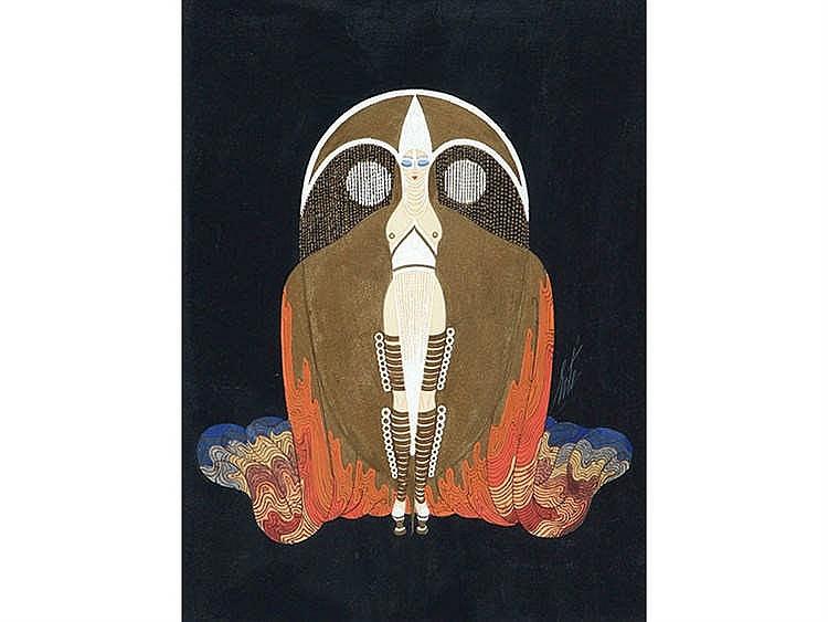 ERTE, Romain de Tirtoff (1882-1990) Cuento hindú