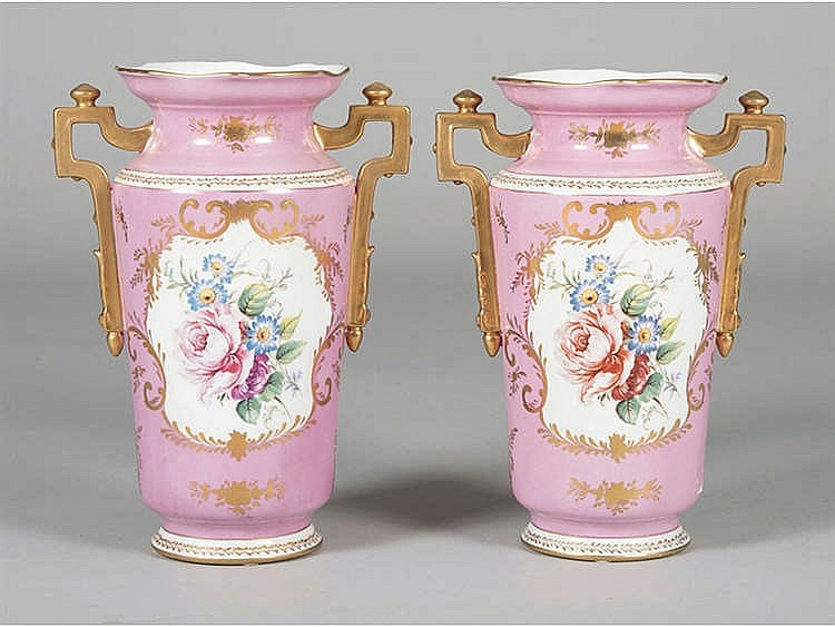 A PAIR OF FRENCH VASES