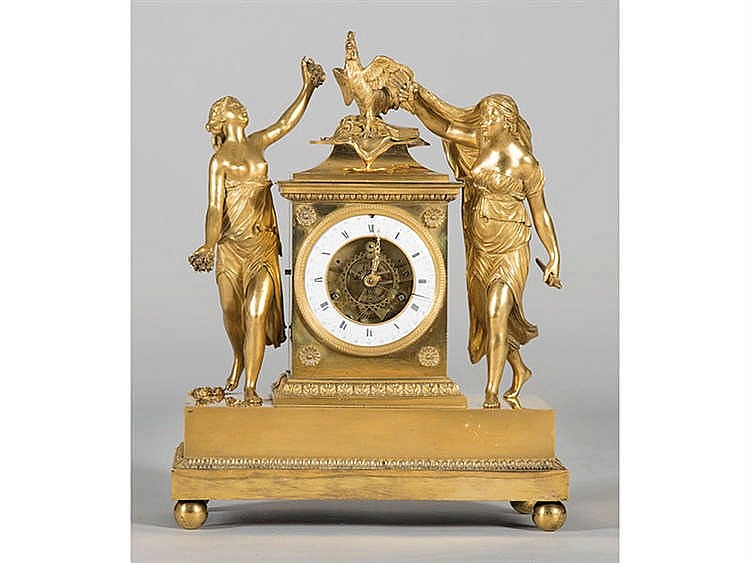 A FRENCH MANTEL CLOCK, 19TH CENTURY