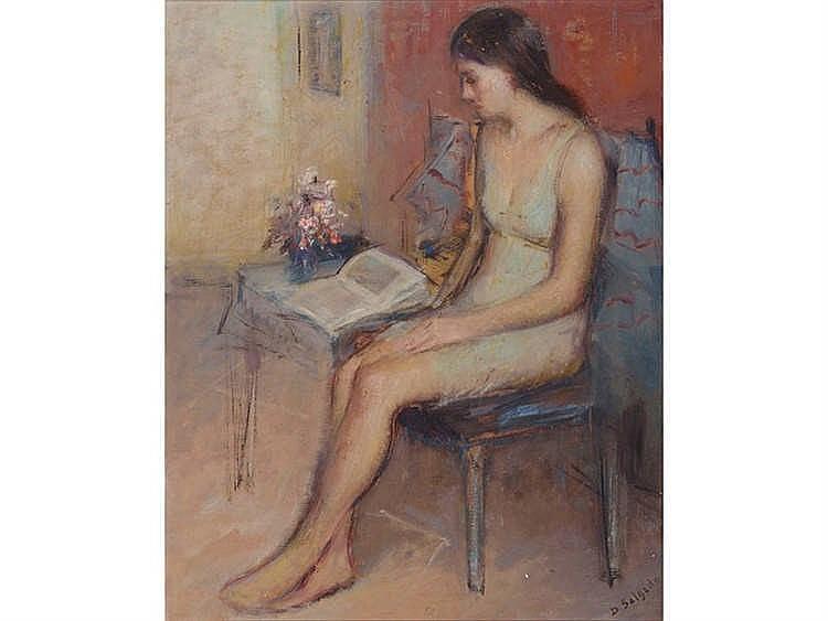 DEMETRIO SALGADO COSME (Salamanca, 1915-Madrid, 2000) Mujer leyendo