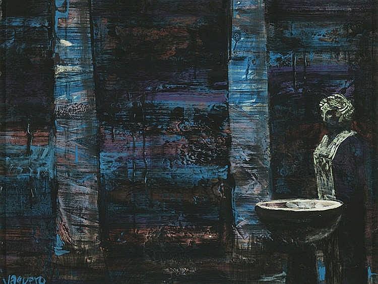JOAQUÍN VAQUERO TURCIOS (Madrid,1933-Santander,2010) Peristilo azul
