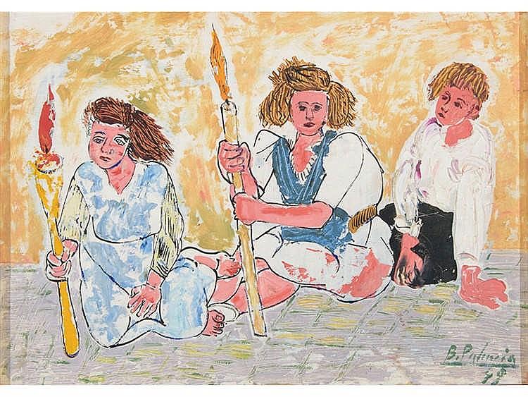 BENJAMÍN PALENCIA (Barrax, Albacete, 1894 - Madrid, 1980) Tres mujeres