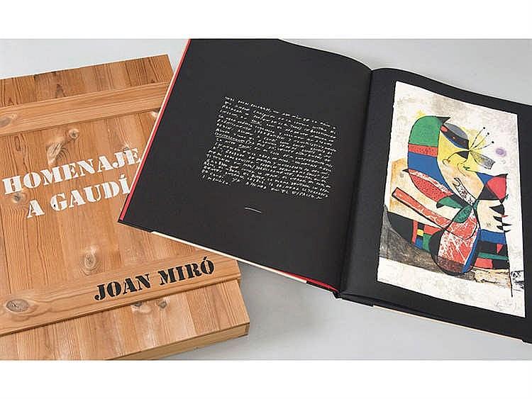 JOAN MIRÓ (Barcelona, 1893-Palma de Mallorca, 1983) Homenaje a Gaudí