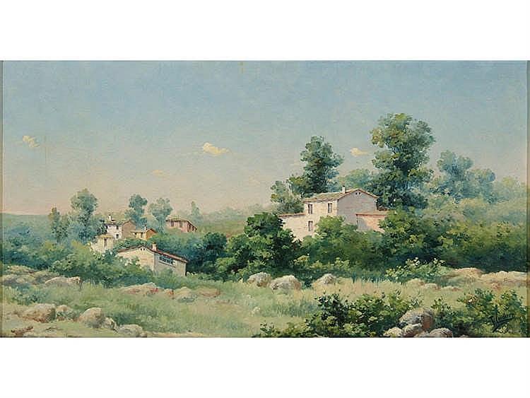 JOSÉ FRANCO CORDERO (Jerez de la Frontera, 1851 – Madrid, 1892) Landscape