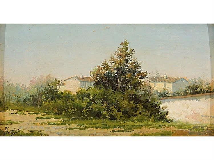 JOSE FRANCO CORDERO (Jerez de la Frontera, Cádiz, 1851 - c. 1910) Landscape