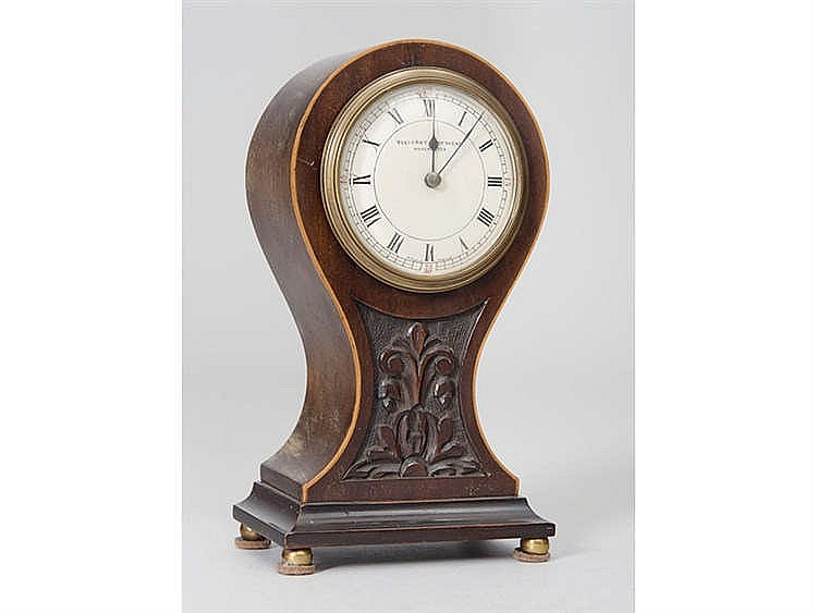 AN ENGLISH TABLE CLOCK, CIRCA 1900