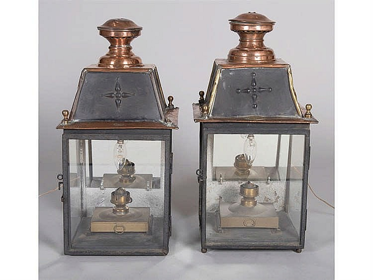 A PAIR OF FRENCH LANTERNS