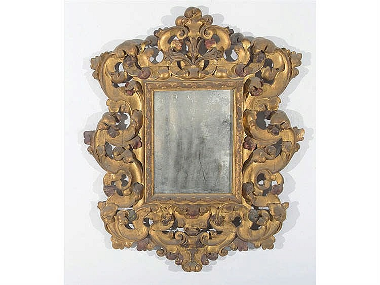 A BARROQUE STYLE MIRROR, 17TH CENTURY