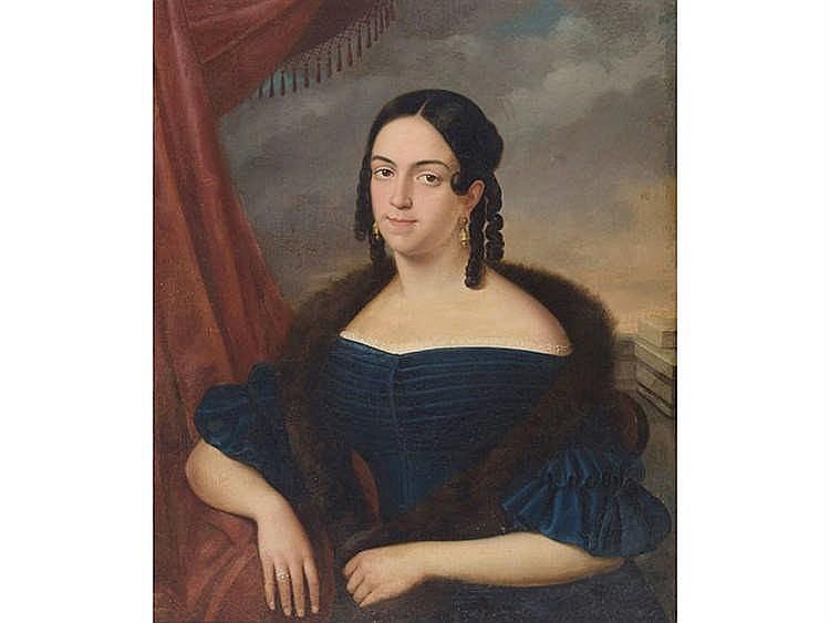 CIRCLE OF ANTONIO MARIA ESQUIVEL Joven con tirabuzones