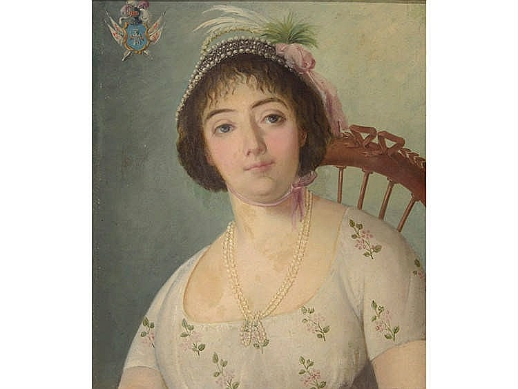 AMERICAN SCHOOL, 19TH CENTURY Young Woman with Hat