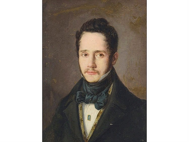 SPANISH SCHOOL, CIRCA 1820 Portrait of a Gentleman