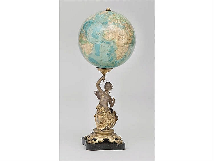 A FRENCH TABLE GLOBE, 19TH/20TH CENTURY