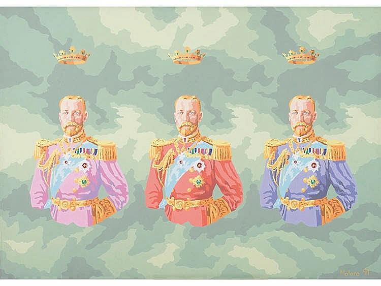 HERMINIO MOLERO (La Puebla de Almoradiel, Toledo, 1948) Coronación Triple de Jorge V
