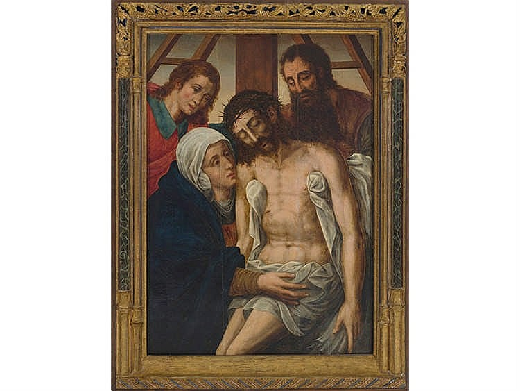 FLEMISH SCHOOL, 16TH CENTURY Descent from the Cross