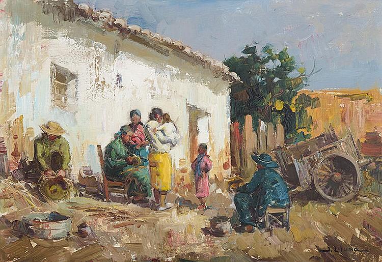 JUAN LLUNA (Godella, Valencia 1933) Gypsy family