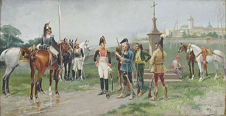 MANUEL PICOLO (Murcia, 1855-1912) Soldiers