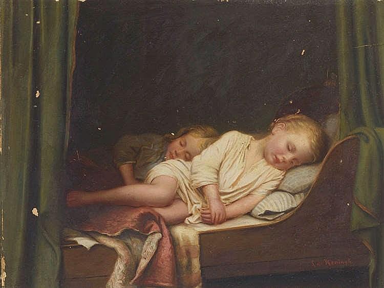 LEENDERT I DE KONINGH (1777-1849) Niños dormidos