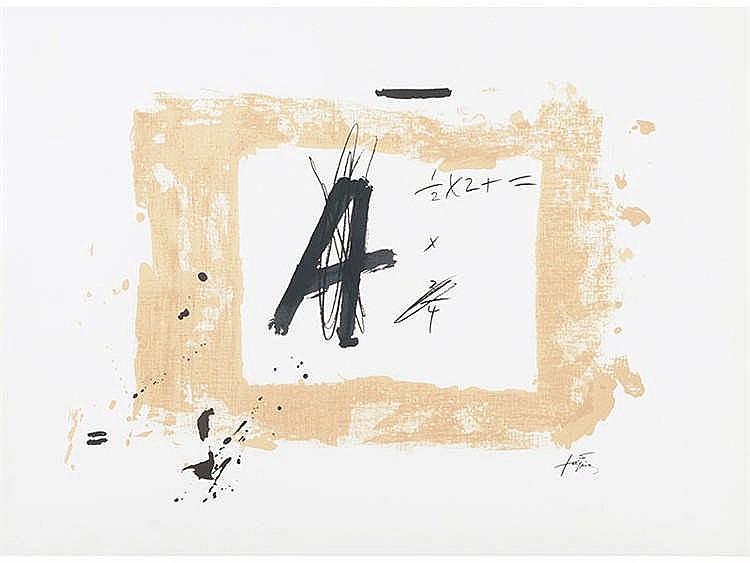 ANTONI TAPIES (Barcelona, 1923-2012) Letra A, 1976