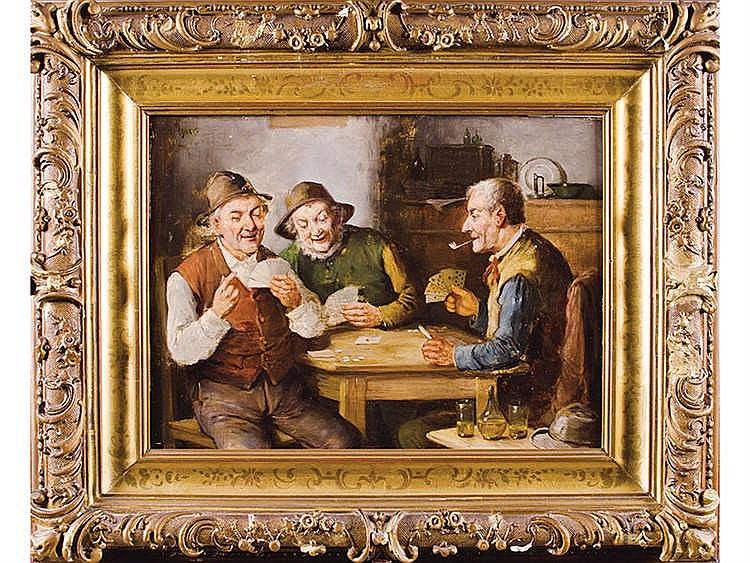 KONSTANTIN STOIZTNER (1863-1934) Los jugadores de cartas