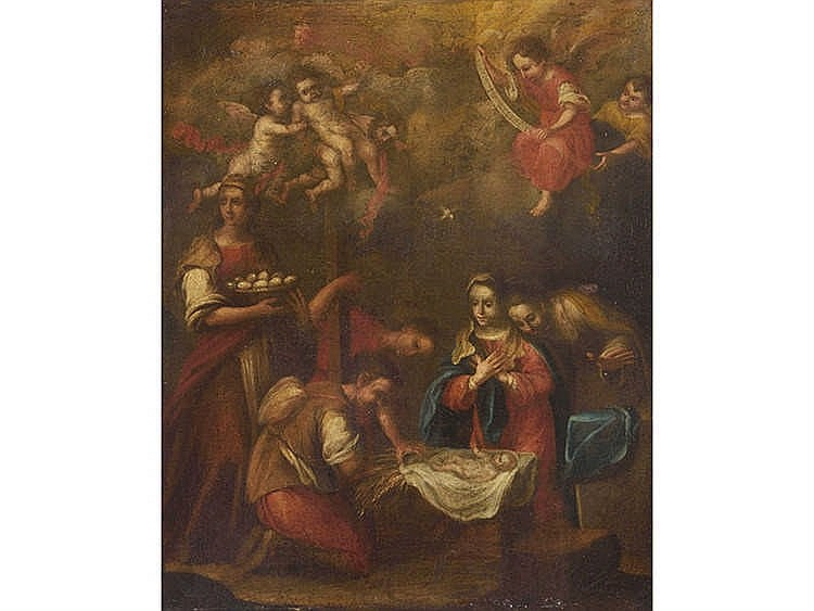ANDALUSIAN SCHOOL, 17TH CENTURY The Birth of the Virgin