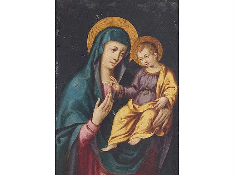 SPANISH SCHOOL, 17TH CENTURY Virgin and Child
