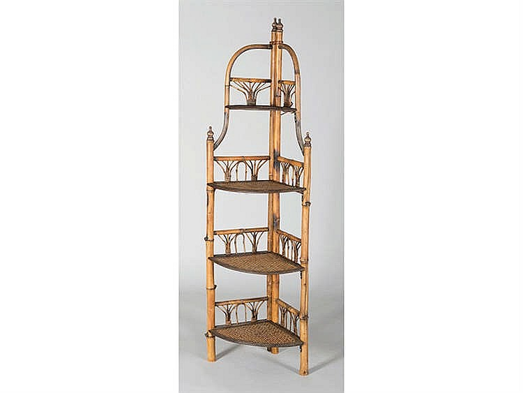 A BAMBOO CANE BOOK STAND