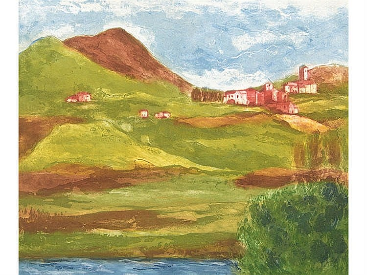 LUIS GARCIA-OCHOA (San Sebastián, 1920) Paisaje vasco francés