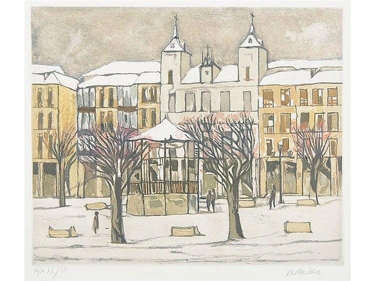 AGUSTÍN REDONDELA (Madrid, 1922 - 2015) Plaza de Segovia