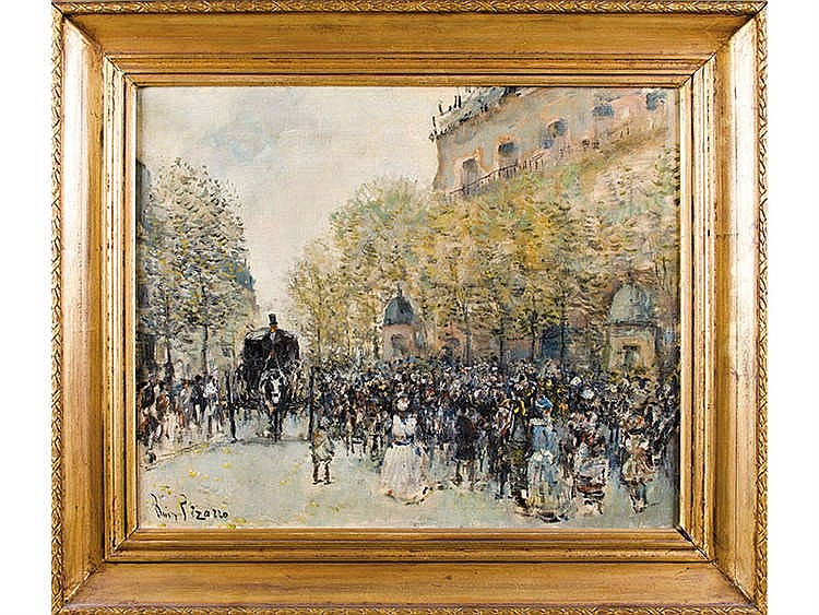 RODRIGO RUIZ PIZARRO (Argentine school, 20th century) Paris street