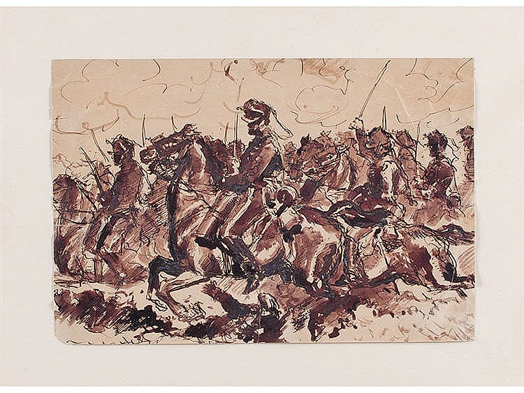 MARCELINO DE UNCETA (Zaragoza, 1835-Madrid, 1905) Batalla