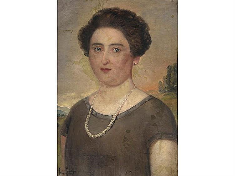 SPANISH SCHOOL, 20TH CENTURY Female Portrait