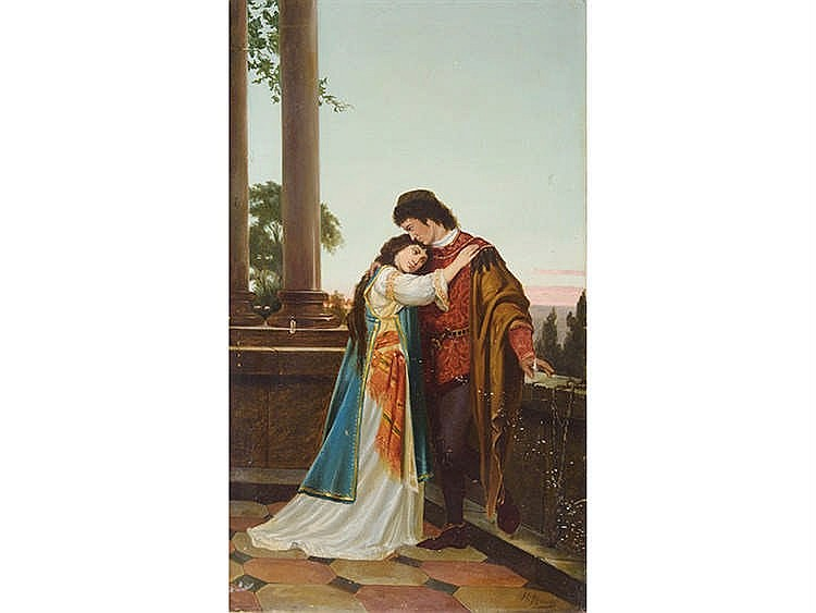 M. MORENO (Late 19th Century/Early 20th Century, Spanish School) Medieval Couple
