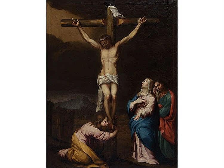 PEDRO DEL POZO (Lucena, Cordoba?-Seville, 1785) Crucifixión