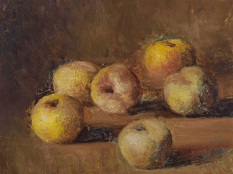LUIS MOSQUERA (La Coruña,1899 - Madrid,1987) Still Life of Apples