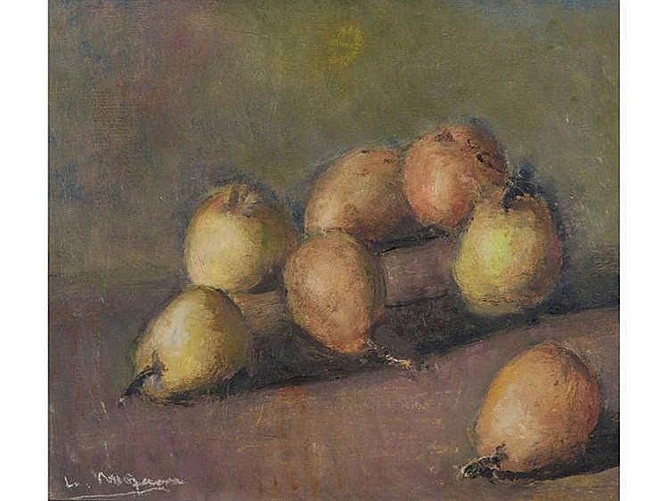 LUIS MOSQUERA (La Coruña, 1899-Madrid, 1987) Still Life of Pears