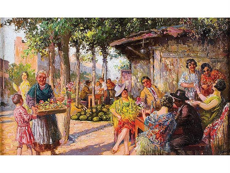 JUAN JOSE GARATE CLAVERO (Albalate del Arzobispo,Teruel, 1870-Madrid, 1939) En el mercado
