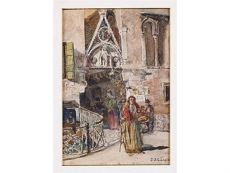 JUAN JOSE GARATE CLAVERO (Albalate del Arzobispo, Teruel, 1870-Madrid, 1939) Salida de misa