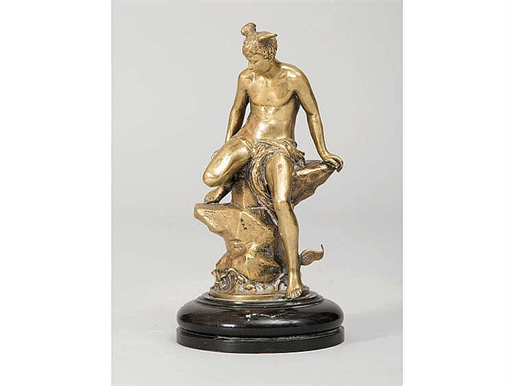A GILT BRONZE MERCURY FIGURE