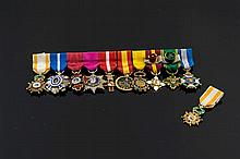A SET OF SILVER, GILT METAL AND ENAMEL MEDALS