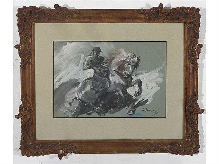 ROBERTO DOMINGO (Paris, 1893-Madrid, 1956) Personaje a caballo
