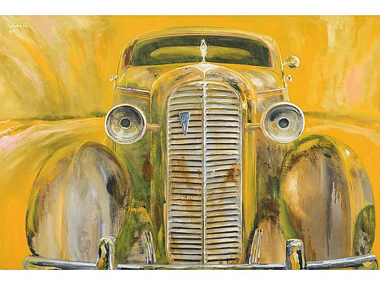 JULIO LAVALLÉN (Concordia, Argentina, 1957) Cadillac amarillo