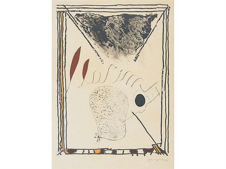 JOSEP GUINOVART (Barcelona, 1927-2007) Abstracto con espejo