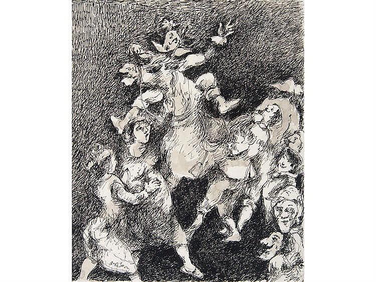 LUIS GARCÍA OCHOA (San Sebastián, 1920) Personajes y caballo