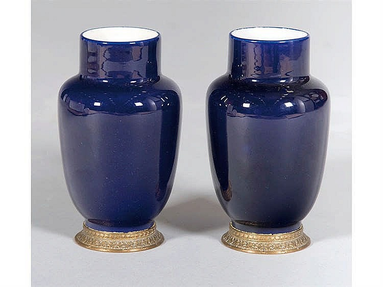 A PAIR OF FRENCH CERAMIC VASES
