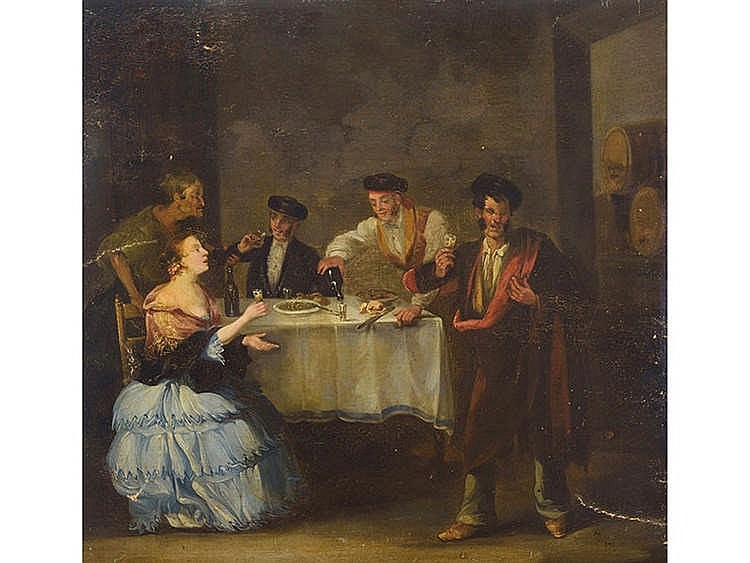 ANDALUSIAN SCHOOL, 19TH CENTURY In the tavern