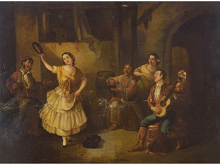 ANDALUSIAN SCHOOL, 19TH CENTURY Flamenco Dance