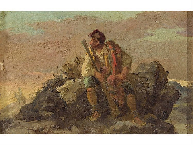 ATTRIBUTED TO ANTONI DE FERRER CORRIOL (Vic, Barcelona, 1844-Barcelona, 1909) Bandolero