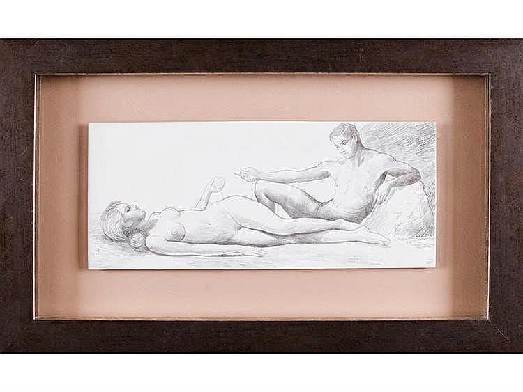 NATALIO BAYO (Epila, Zaragoza, 1945) Dos desnudos