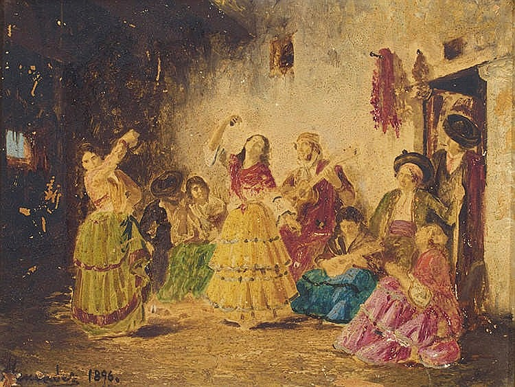 MERCADER (19th Century, Spanish School) The dance