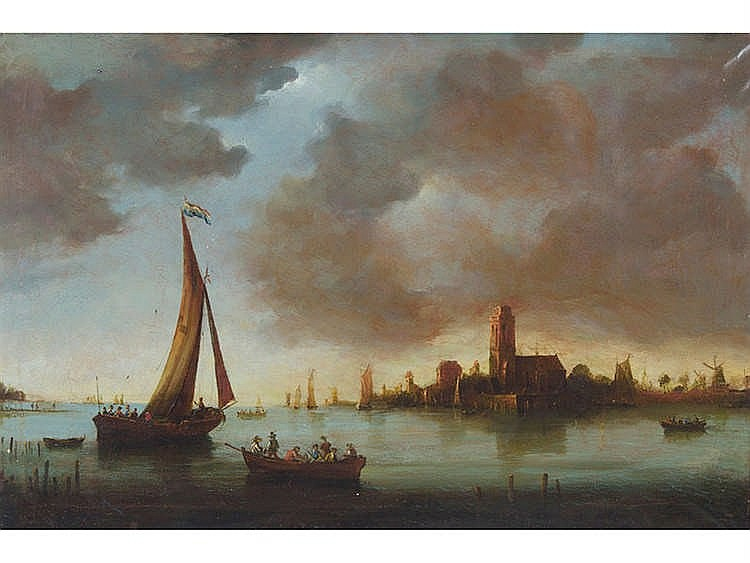 FOLLOWING FLEMISH MODELS Coastal Landscape with Characters